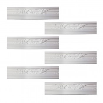 <PRE>Renovator's Supply Cornice White Urethane Julia Ornate Design 6 Pieces Totaling 561inch Length</PRE>zoom1