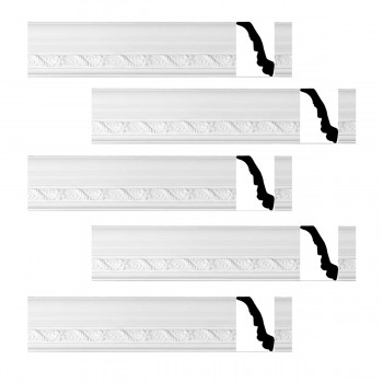 <PRE>Renovator's Supply Cornice White Urethane Emma Design 5 Pieces Totaling 465inch Length</PRE>zoom1
