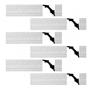 <PRE>Renovator's Supply White Urethane Foam Palso - Cornice - Ornate  6 Pieces Totaling 586.5inch Length</PRE>zoom1