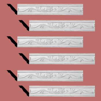 <PRE>Renovator's Supply Ornate Cornice White Urethane Ava Design 6 Pieces Totaling 475.5inch Length</PRE>zoom2