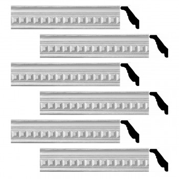Renovators Supply Ornate Cornice White Urethane Amelia Ornate  6 Pieces Totaling 568.5 Length White PrePrimed Urethane Crown Cornice Molding Cornice Crown Home Depot Ekena Millwork Molding Wall Ceiling Corner Cornice Crown Cove Molding