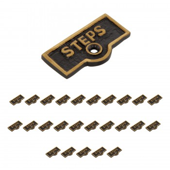 <PRE>25 Switch Plate Tags STEPS Name Signs Labels Cast Brass </PRE>zoom1