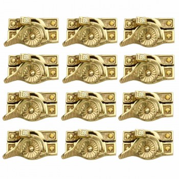12 Ornate Window Sash Lock Bright Solid Brass