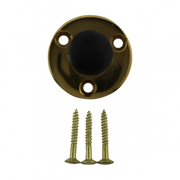 <PRE>10 Door Stop Polished Brass Solid Brass Tipped Tubular Bumper | RS</PRE>zoom3
