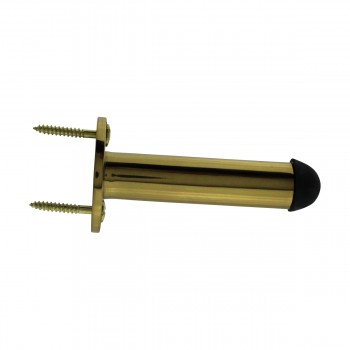 <PRE>10 Door Stop Polished Brass Solid Brass Tipped Tubular Bumper | RS</PRE>zoom6