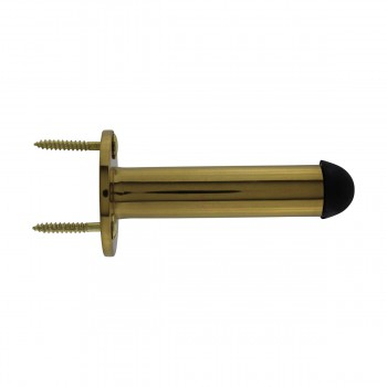<PRE>10 Door Stop Polished Brass Solid Brass Tipped Tubular Bumper | RS</PRE>zoom8