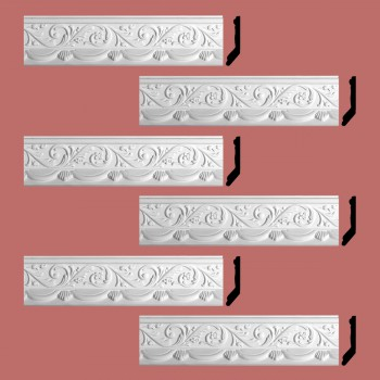 <PRE>Renovator's Supply Cornice White Urethane Letreamont Ornate Design 6 Pieces Totaling 496.5inch Length</PRE>zoom2