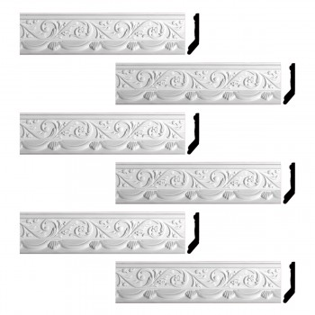 <PRE>Renovator's Supply Cornice White Urethane Letreamont Ornate Design 6 Pieces Totaling 496.5inch Length</PRE>zoom1