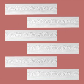 Renovators Supply Cornice White Urethane Donnegal Ornate Design 6 Pieces Totaling 473.25 Length White PrePrimed Urethane Crown Cornice Molding Cornice Crown Home Depot Ekena Millwork Molding Wall Ceiling Corner Cornice Crown Cove Molding