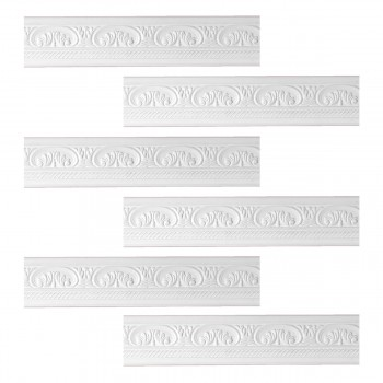 <PRE>Renovator's Supply Cornice White Urethane Donnegal Ornate Design 6 Pieces Totaling 473.25inch Length</PRE>zoom1