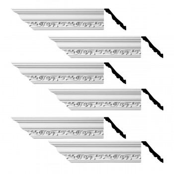 <PRE>Renovator's Supply Ornate Cornice White Urethane Zoe Design 6 Pieces Totaling 564inch Length</PRE>zoom1