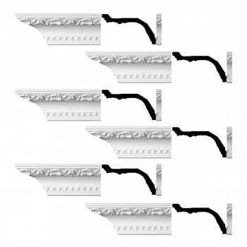 <PRE>Renovator's Supply Ornate Cornice White Urethane Giovane Design 6 Pieces Totaling 576inch Length</PRE>zoom1