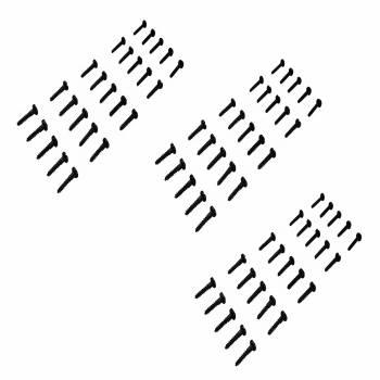 #8 Pyramid Wood Screws 34 Qty 75 Black Steel Screws Bag Of Screws Brass Screws
