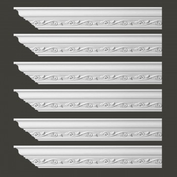 <PRE>Renovator's Supply Ornate Cornice White Urethane Lunetta Design 6 Pieces Totaling 576inch Length</PRE>zoom2