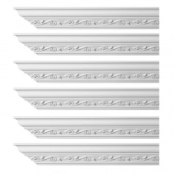 <PRE>Renovator's Supply Ornate Cornice White Urethane Lunetta Design 6 Pieces Totaling 576inch Length</PRE>zoom1