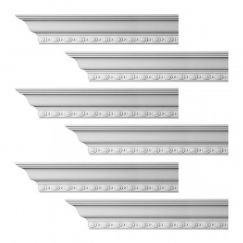 <PRE>Renovator's Supply Cornice White Urethane Exeter Ornate Design 6 Pieces Totaling 576inch Length</PRE>zoom1
