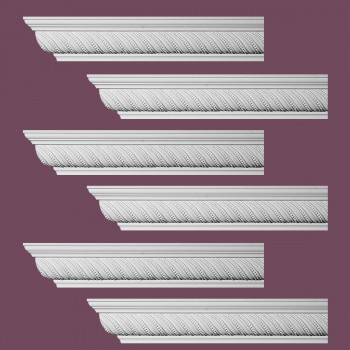 Renovators Supply Ornate Cornice White Urethane Queensborough Design 6 Pieces Totaling 576 Length White PrePrimed Urethane Crown Cornice Molding Cornice Crown Home Depot Ekena Millwork Molding Wall Ceiling Corner Cornice Crown Cove Molding