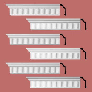 <PRE>Renovator's Supply Ornate Cornice White Urethane Sunderland Design 6 Pieces Totaling 576inch Length</PRE>zoom2