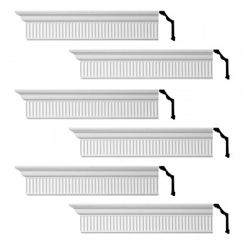 <PRE>Renovator's Supply Ornate Cornice White Urethane Sunderland Design 6 Pieces Totaling 576inch Length</PRE>zoom1