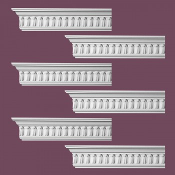 <PRE>Renovator's Supply Ornate Cornice White Urethane Wetherby Design 6 Pieces Totaling 576inch Length</PRE>zoom2