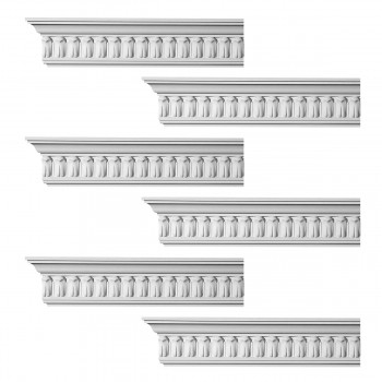 <PRE>Renovator's Supply Ornate Cornice White Urethane Wetherby Design 6 Pieces Totaling 576inch Length</PRE>zoom1