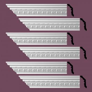 <PRE>Renovator's Supply Ornate Cornice White Urethane Weybridge Design 6 Pieces Totaling 576inch Length</PRE>zoom2