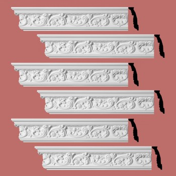 <PRE>Renovator's Supply Ornate Cornice White Urethane Cannes Design 6 Pieces Totaling 564inch Length</PRE>zoom2