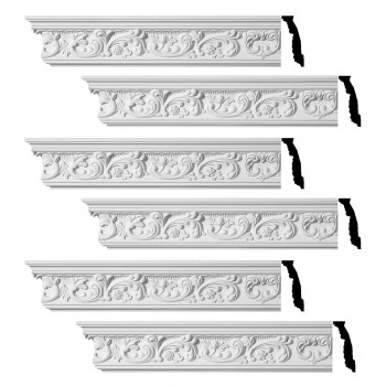 <PRE>Renovator's Supply Ornate Cornice White Urethane Cannes Design 6 Pieces Totaling 564inch Length</PRE>zoom1
