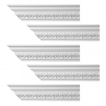 <PRE>Renovator's Supply Ornate Cornice White Urethane Chaville Design 5 Pieces Totaling 480inch Length</PRE>zoom1