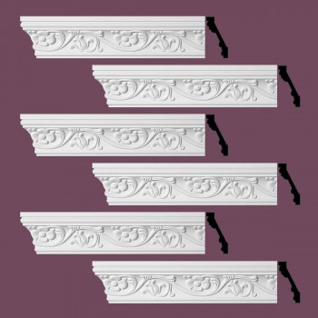 <PRE>Renovator's Supply Ornate Cornice White Urethane Sainte Anne Design 6 Pieces Totaling 576inch Length</PRE>zoom2