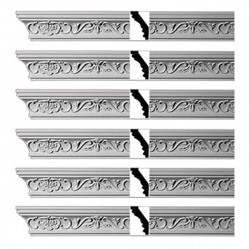 <PRE>Renovator's Supply Ornate Cornice White Urethane Lake Oswego Design 6 Pieces Totaling 565.5inch Length</PRE>zoom1