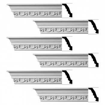 <PRE>Renovator's Supply Ornate Cornice White Urethane Cheshire Design 6 Pieces Totaling 564inch Length</PRE>zoom1