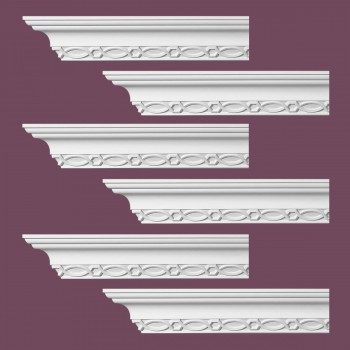 Renovators Supply Ornate Cornice White Urethane Great Barrington  6 Pieces Totaling 570 Length White PrePrimed Urethane Crown Cornice Molding Cornice Crown Home Depot Ekena Millwork Molding Wall Ceiling Corner Cornice Crown Cove Molding