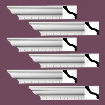 Renovators Supply Ornate Cornice White Urethane Hawley Design 6 Pieces Totaling 564 Length White PrePrimed Urethane Crown Cornice Molding Cornice Crown Home Depot Ekena Millwork Molding Wall Ceiling Corner Cornice Crown Cove Molding