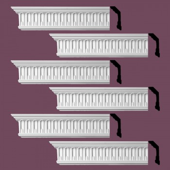 <PRE>Renovator's Supply Ornate Cornice White Urethane Shelburn Falls Design 6 Pieces Totaling 564inch Length</PRE>zoom2