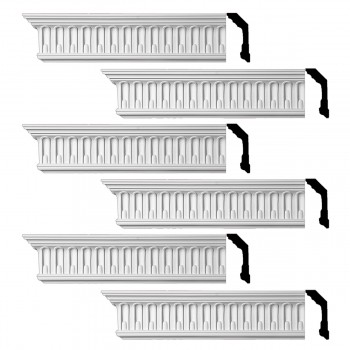 <PRE>Renovator's Supply Ornate Cornice White Urethane Shelburn Falls Design 6 Pieces Totaling 564inch Length</PRE>zoom1