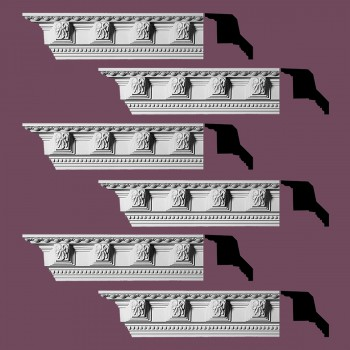 Renovators Supply Ornate Cornice White Urethane Three Rivers Design 6 Pieces Totaling 564 Length White PrePrimed Urethane Crown Cornice Molding Cornice Crown Home Depot Ekena Millwork Molding Wall Ceiling Corner Cornice Crown Cove Molding