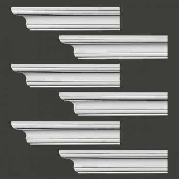 Renovators Supply Cornice White Urethane Ipswich Simple Design 6 Pieces Totaling 564 Length White PrePrimed Urethane Crown Cornice Molding Cornice Crown Home Depot Ekena Millwork Molding Wall Ceiling Corner Cornice Crown Cove Molding
