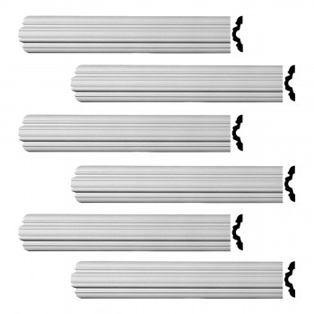 Renovators Supply Crown Molding Urethane Fall River Simple Design 6 Pieces Totaling 576 Length White PrePrimed Urethane Crown Cornice Molding Cornice Crown Home Depot Ekena Millwork Molding Wall Ceiling Corner Cornice Crown Cove Molding