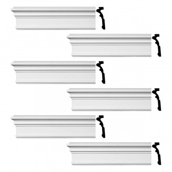 <PRE>Renovator's Supply Crown Molding Urethane Somerset Simple Design 6 Pieces Totaling 576inch Length</PRE>zoom1