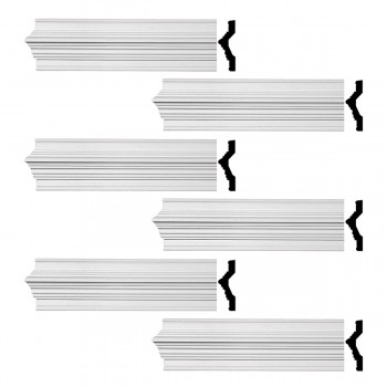<PRE>Renovator's Supply Crown Molding White Urethane Chalmers  Design 6 Pieces Totaling 570inch Length</PRE>zoom1