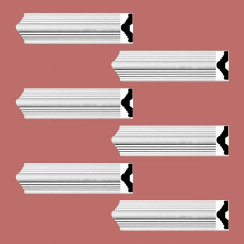 <PRE>Renovator's Supply Crown Molding White Urethane Alden Simple Design 6 Pieces Totaling 564inch Length</PRE>zoom2