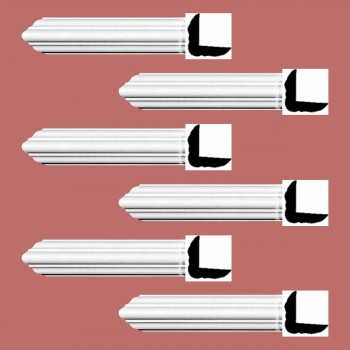 <PRE>Renovator's Supply Cornice White Urethane Belfort Simple Design 6 Pieces Totaling 564inch Length</PRE>zoom2