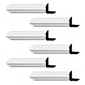 <PRE>Renovator's Supply Cornice White Urethane Belfort Simple Design 6 Pieces Totaling 564inch Length</PRE>zoom1
