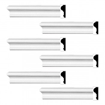 <PRE>Renovator's Supply Cornice White Urethane Simple Design 6 Pieces Totaling 576inch Length</PRE>zoom1