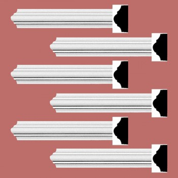 <PRE>Renovator's Supply Cornice White Urethane Simple Design 6 Pieces Totaling 570inch Length</PRE>zoom2