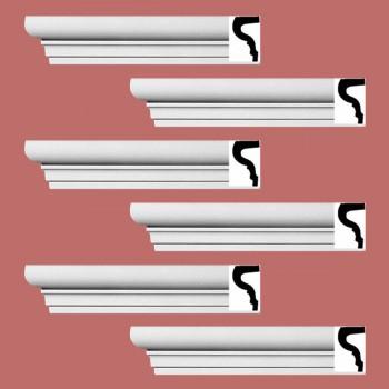 <PRE>Renovator's Supply Cornice White Strasbourg Design 6 Pieces Totaling 576inch Length</PRE>zoom2