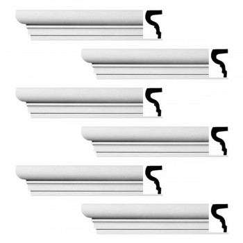 <PRE>Renovator's Supply Cornice White Strasbourg Design 6 Pieces Totaling 576inch Length</PRE>zoom1