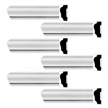 <PRE>Renovator's Supply Cornice White Urethane Alison Simple Design 6 Pieces Totaling 564inch Length</PRE>zoom1