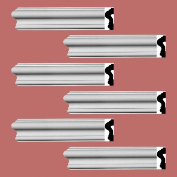 <PRE>Renovator's Supply Crown Molding White Urethane Caravaggio  Design 6 Pieces Totaling 570inch Length</PRE>zoom2